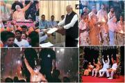 અભુતપૂર્વ જનમેદની સાથે આવો હતો PM મોદીનો રોડ શૉ, જુઓ રેલીના રંગ