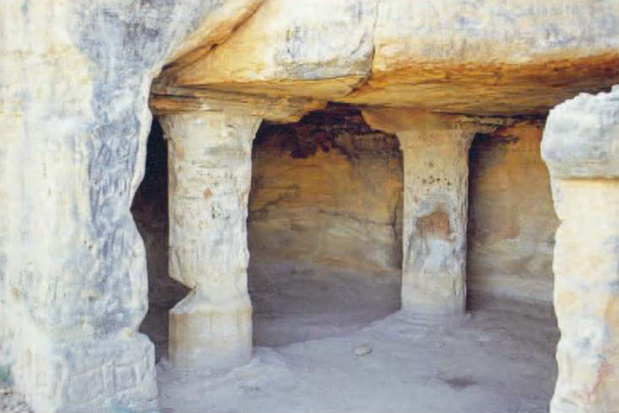 સિયોતની ગુફાઓકચ્છ જિલ્લાના લખપત તાલુકાના સિયોત ગામ પાસે પ્રાચીન શૈલ ગુફાઓ આવેલી છે. આ ગુફાઓ પ્રથમ સદીમાં બનેલી હોવાનું અનુમાન લગાવવામાં આવે છે. આ ગુફામાં ખોદકામ દરમિયાન બૌદ્ધ મુદ્રાઓ, બ્રાહ્મી અને દેવનાગરી લિપિના લખાણો, તાંબાની વીંટીઓ, માટીના વાસણો મળી આવ્યા હતા. (તસવીર સૌજન્ય-gujarattourism.com)