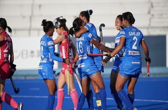 ભારતીય મહિલા ટીમે જાપાનને હરાવી ઓલિમ્પિક હોકી ટેસ્ટ ઇવેન્ટ જીતી (PC : Hockey India)