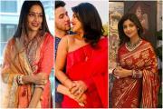Karwa Chauth 2020: જુઓ કયા સેલેબ્ઝે પહેર્યો લાલ રંગ, કોણ પહેર્યા કૂલ ક્લોધ્ઝ