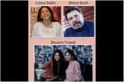 લુબ્ના સલીમ, મેહુલ બૂચ અને ભૂમિ ત્રિવેદી