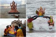 Ganesh Visarjan 2020: ડીજે, ટોળાં અને નાચ-ગાન વિના થઇ 'બાપ્પા'ની વિદાય