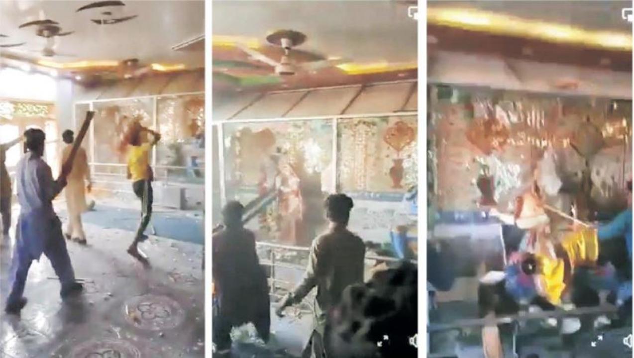 નફ્ફટ પાકિસ્તાનમાં તોફાનીઓનો હિન્દુ મંદિર પર હુમલો : ભારત ક્રોધિત