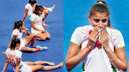 હારને કારણે હતાશ થયેલી ભારતીય ટીમ તેમ જ આંસુને રોકી ન શકેલી શર્મિલા દેવી