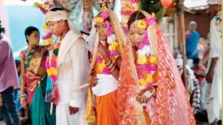 લગ્ન સમયની તસવીર