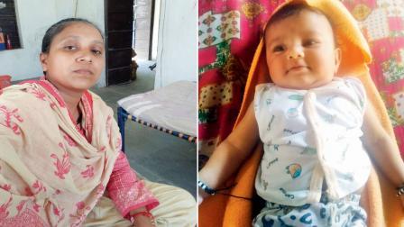 નીતા ડાભી અને તેની 7 મહિનાની દીકરી આરુષી.