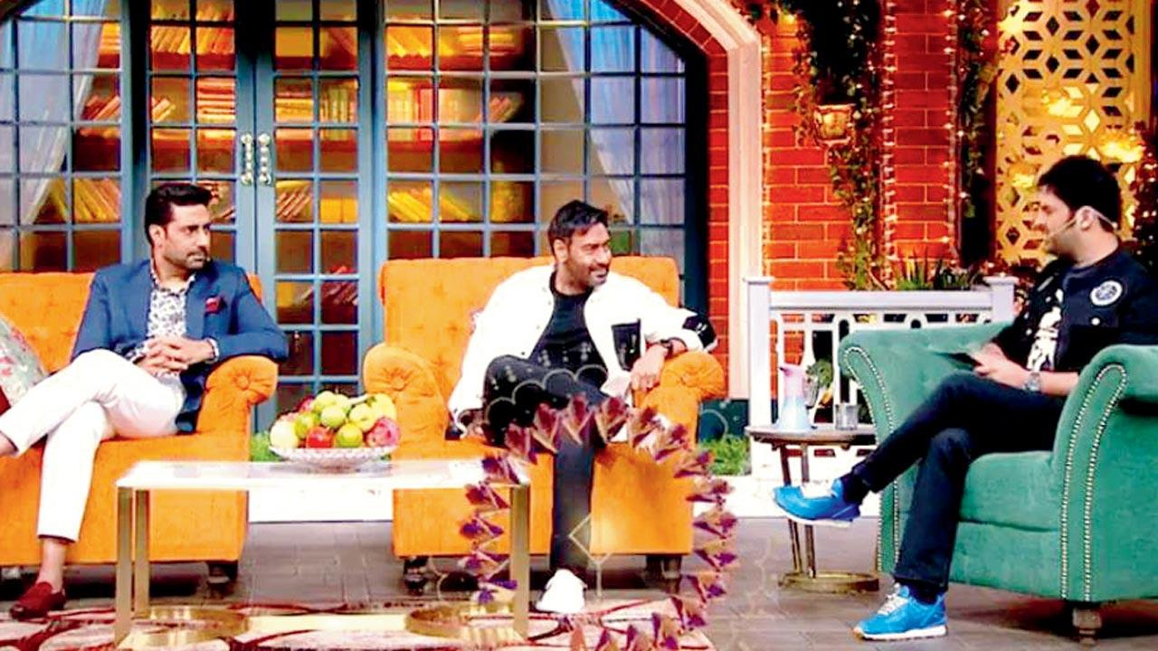 Ajay Devgn, Abhishek Bachchan promote The Big Bull on The Kapil Sharma Show; no release date out yet